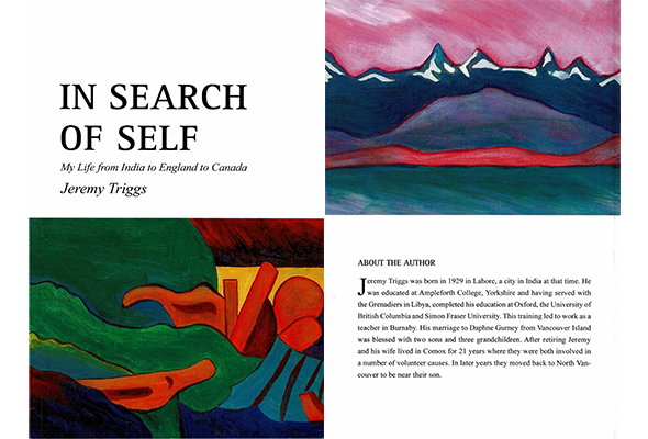 Cover pages for In Search of Self by Jeremy Triggs