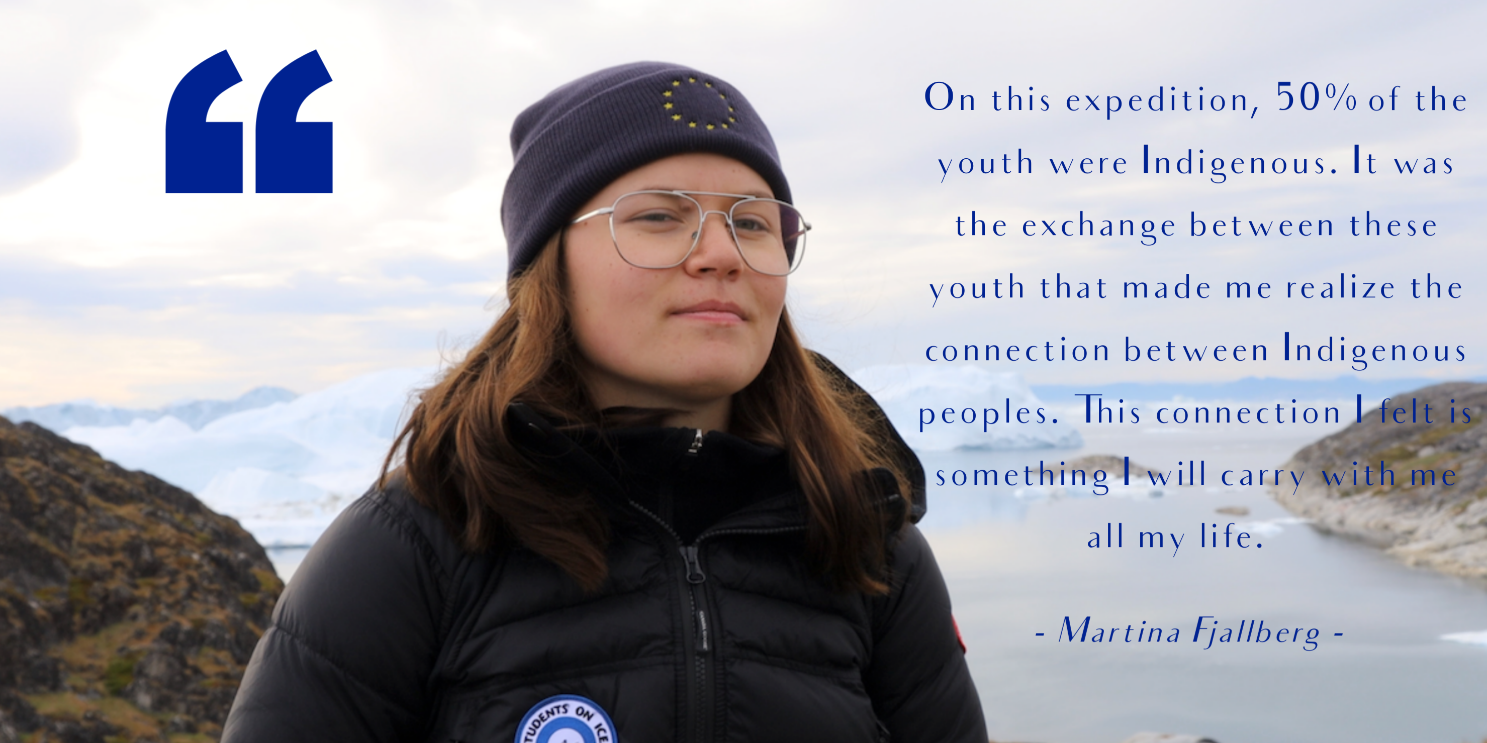 Martina Students on Ice Quote