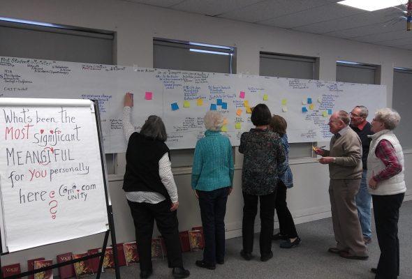 Participants at Como Lake United Church Story Circle
